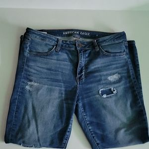 American Eagle skinny Distressed jeans size 14